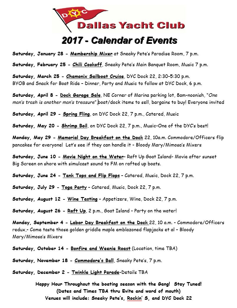 DYC 2017 Calendar