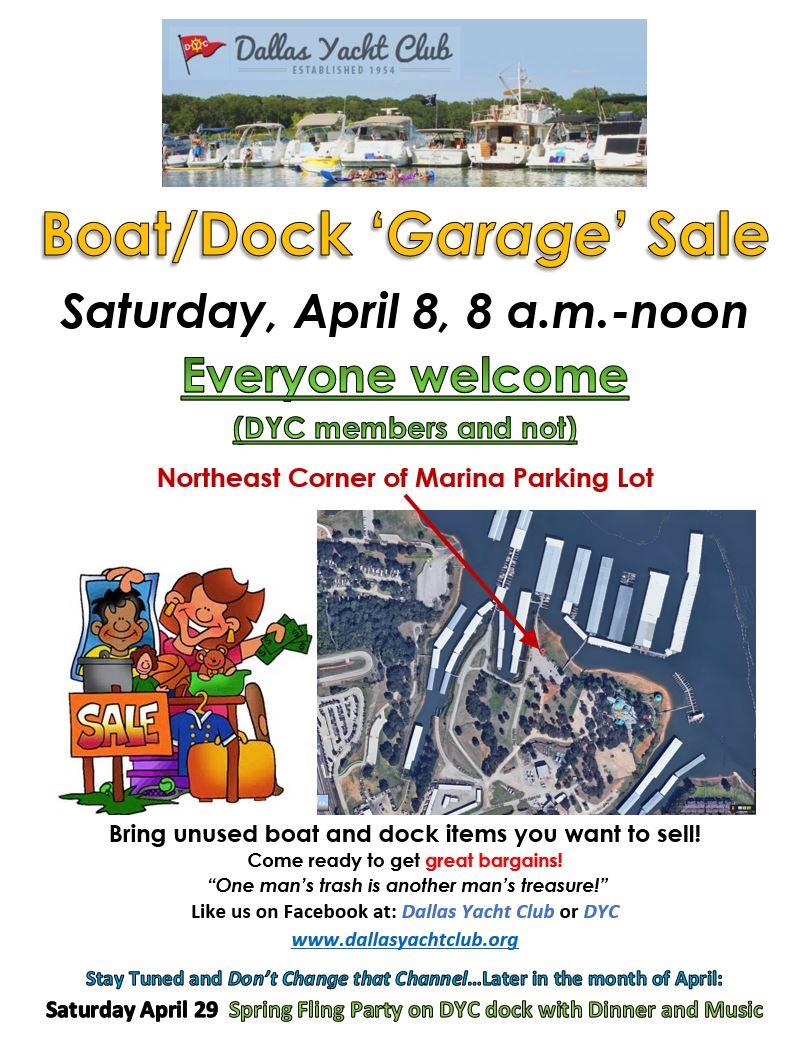 April 2017 DYC Boat-Doc Garage Sale